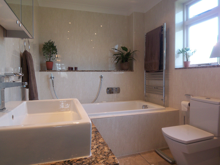 Modern square style bathroom
